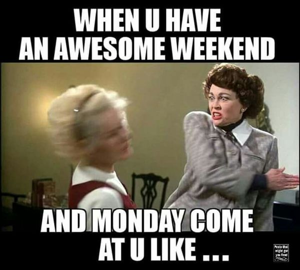Amusing weekend party meme photo
