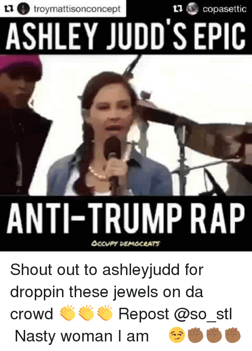 Ashley Judd Meme Funny Image Photo Joke 12