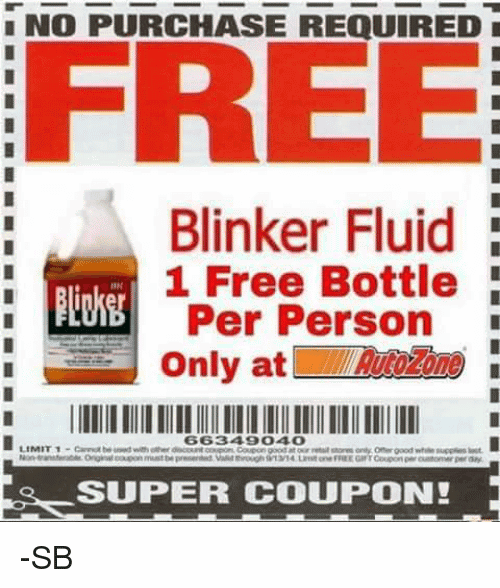 Blinker Fluid Meme Funny Image Photo Joke 13