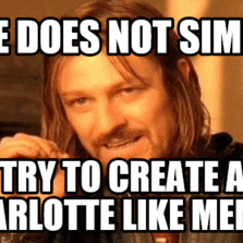 Charlotte Meme Funny Image Photo Joke 02