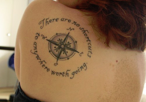 Compass Tattoo With Quote Meme Image 11