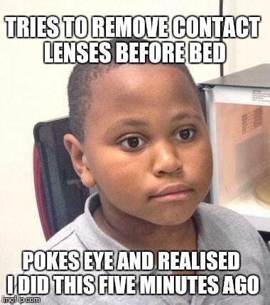 Contact Lenses Meme Funny Image Photo Joke 14