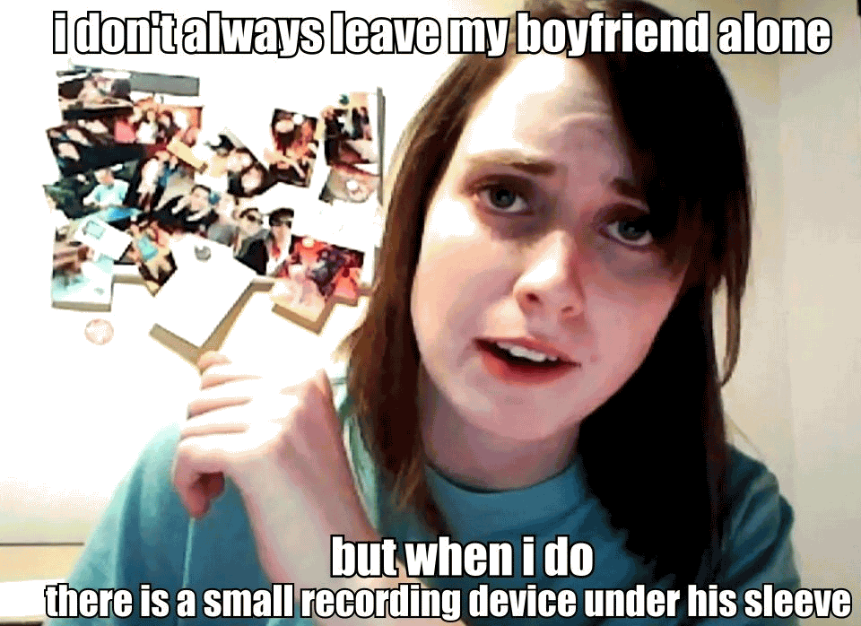 Crazy Girlfriend Meme Funny Image Photo Joke 03
