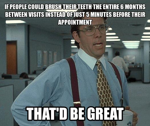 Dental Hygiene Meme Funny Image Photo Joke 02