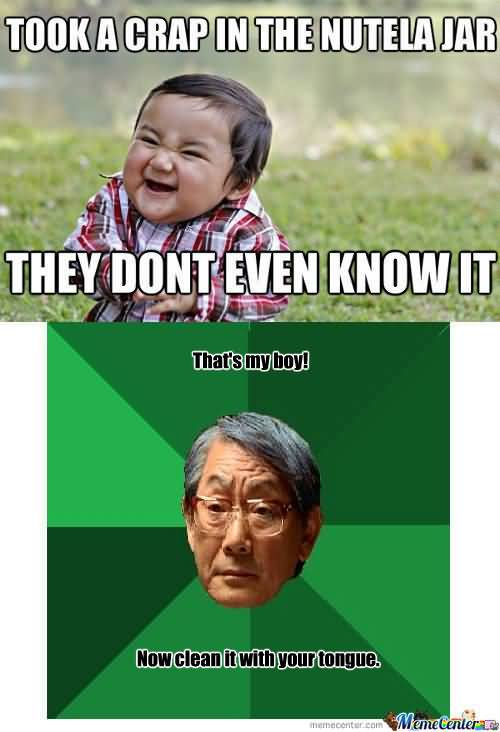 Evil Toddler Meme Funny Image Photo Joke 12