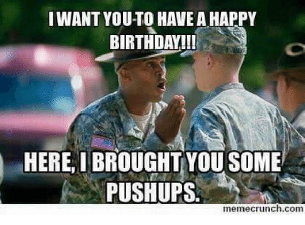 Funniest best army birthday meme image