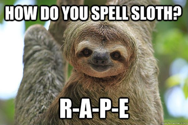 Funniest cool creepy sloth meme photo