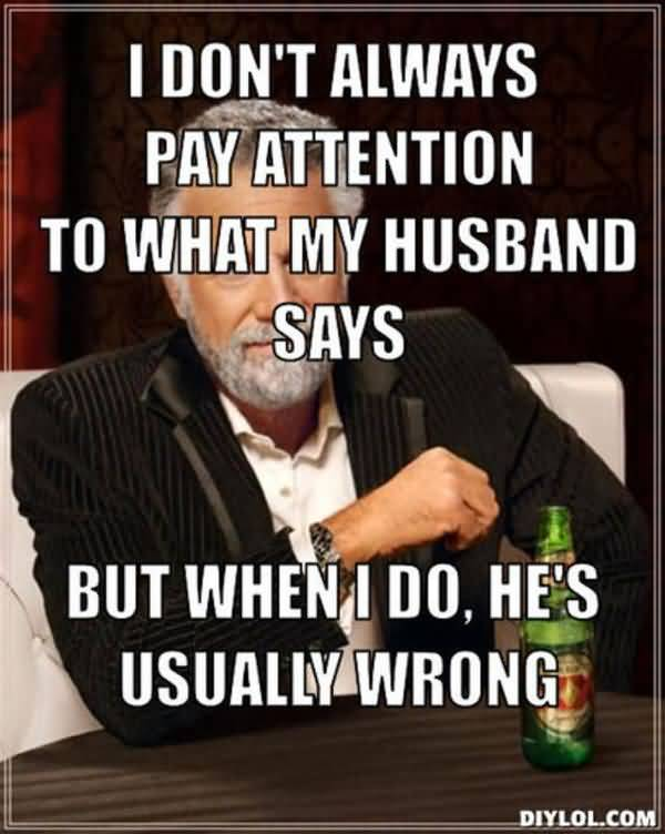 Funniest love my husband meme photo