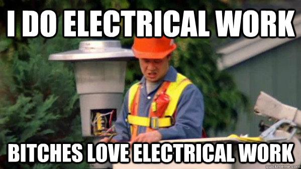 Funny Electrician Meme Funny Image Photo Joke 01