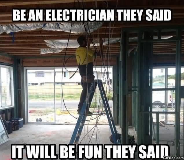 Funny Electrician Meme Funny Image Photo Joke 12