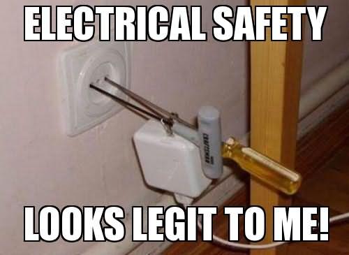 Funny Electrician Meme Funny Image Photo Joke 14