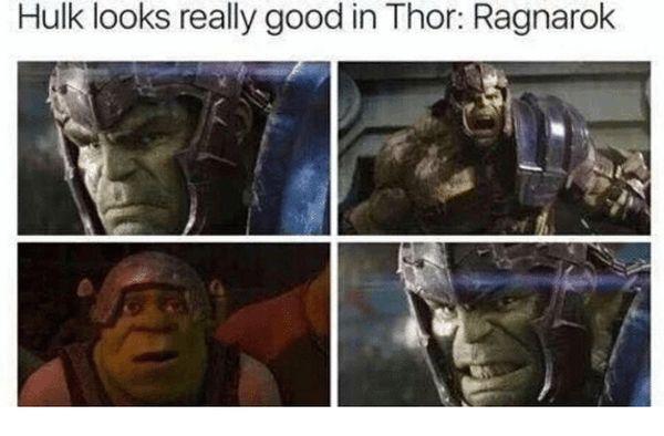 Funny amazing thor and hulk meme image