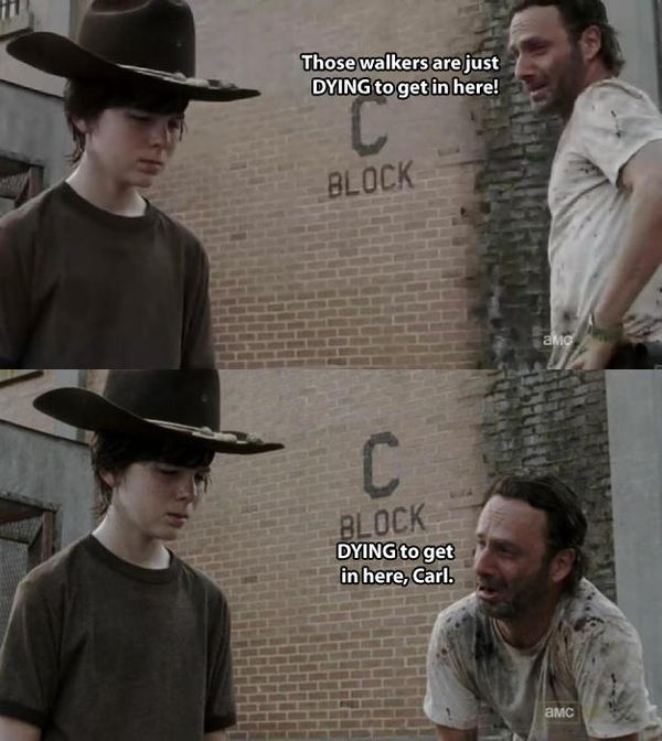 Funny carl walking dead meme jokes