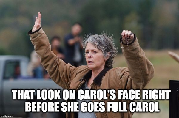 Funny carol walking dead meme photo
