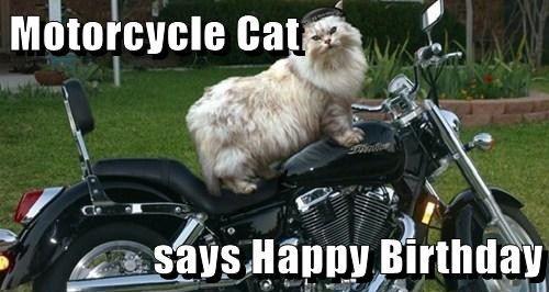 Happy Birthday Motorcycle Meme Funny Image Photo Joke 10