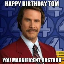 Happy Birthday Tom Meme Funny Image Photo Joke 04