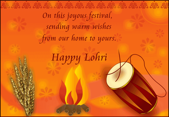 Happy Lohri Greetings Card Design Img