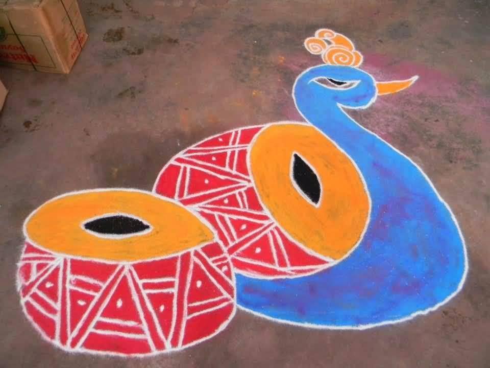 Happy Lohri Rangoli Design