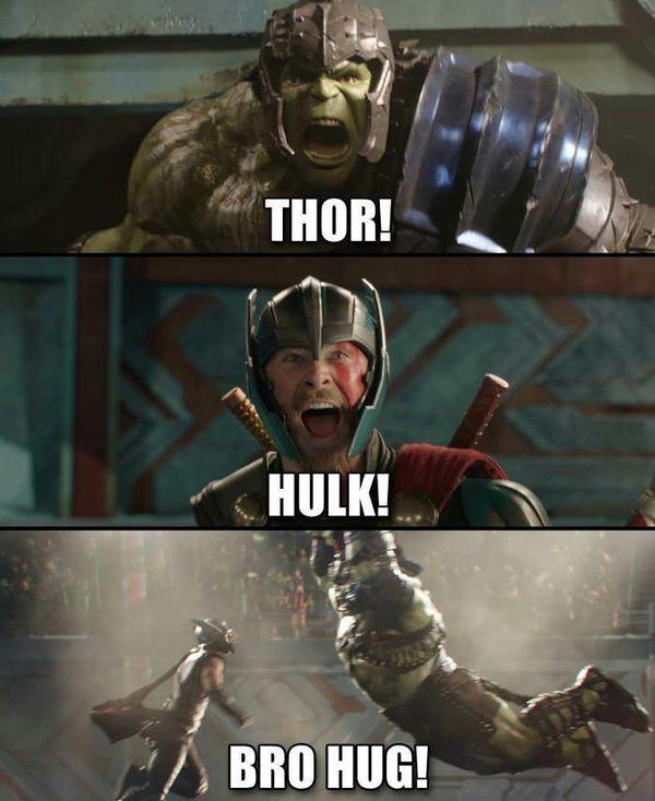 Hilarious common thor and hulk meme joke