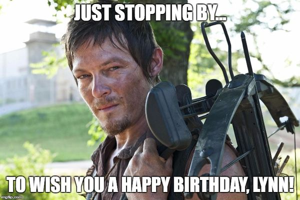 Hilarious walking dead birthday meme gifs