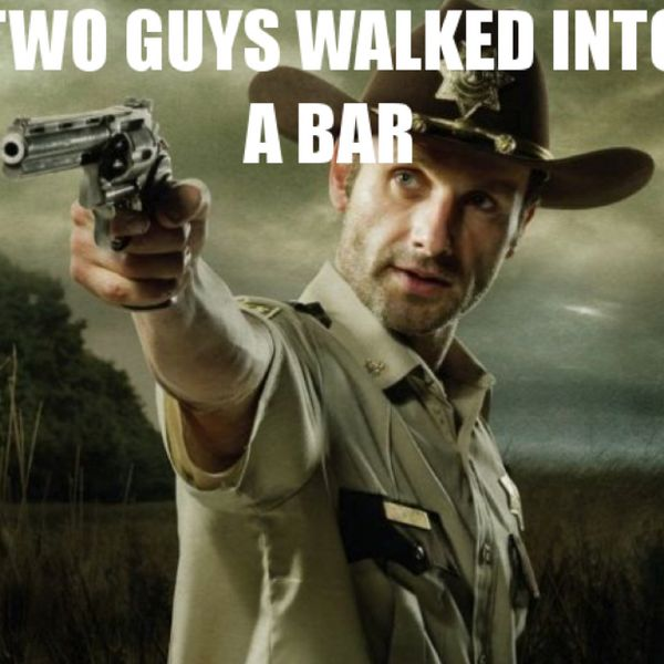 Hilarious walking dead birthday meme photo