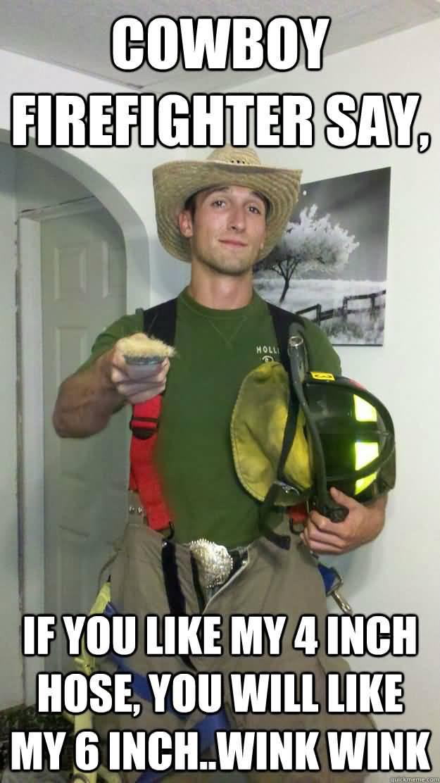 Hot Firefighter Meme Funny Image Photo Joke 03