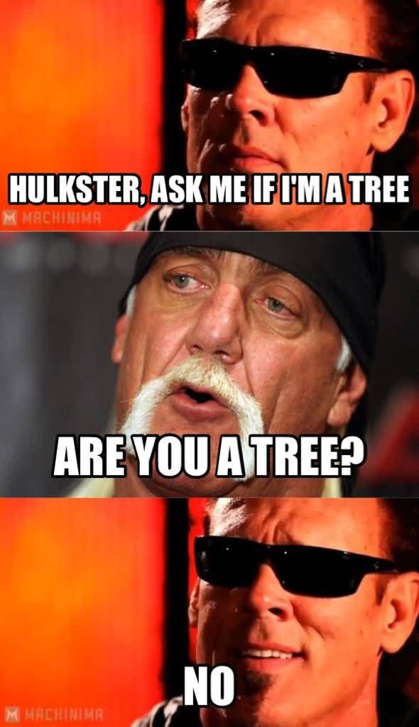 Hulkster Ask Me If I'm A Tree Are You A Tree No