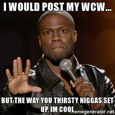 I Would Post My WCW..But The Way You Thirsty Niggas Set Up Im Cool