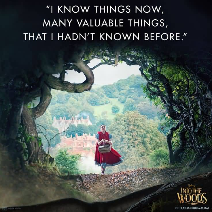 Love Quote: 25 Into The Woods Quotes And Sayings Collection