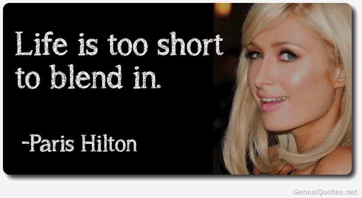 Paris Hilton Quotes Meme Image 14