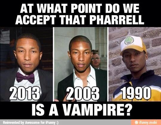 Pharrell Vampire Meme Funny Image Photo Joke 02