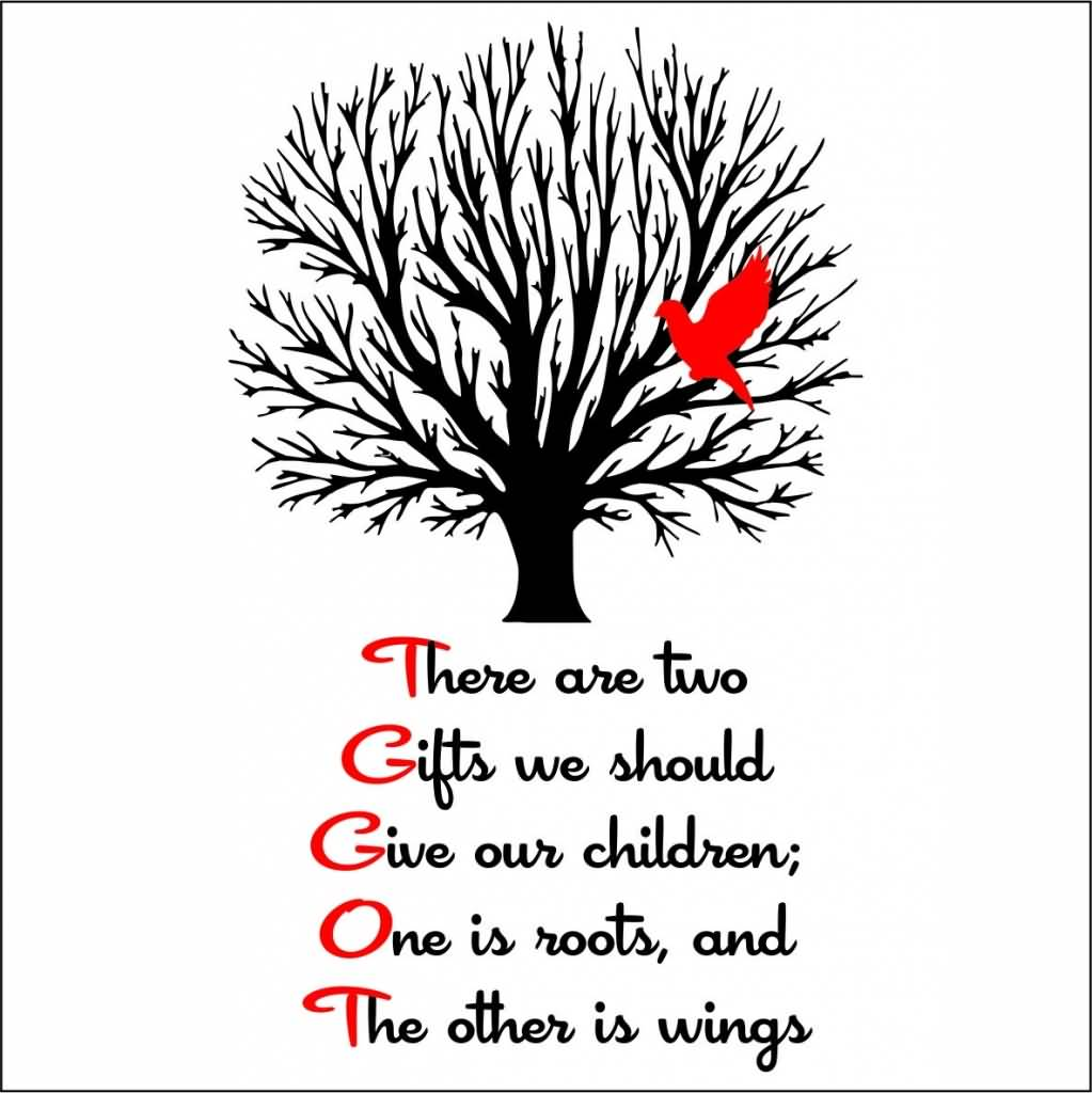 Roots And Wings Quote Meme Image 02