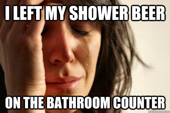 Shower Beer Meme Funny Image Photo Joke 06