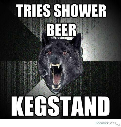 Shower Beer Meme Funny Image Photo Joke 10