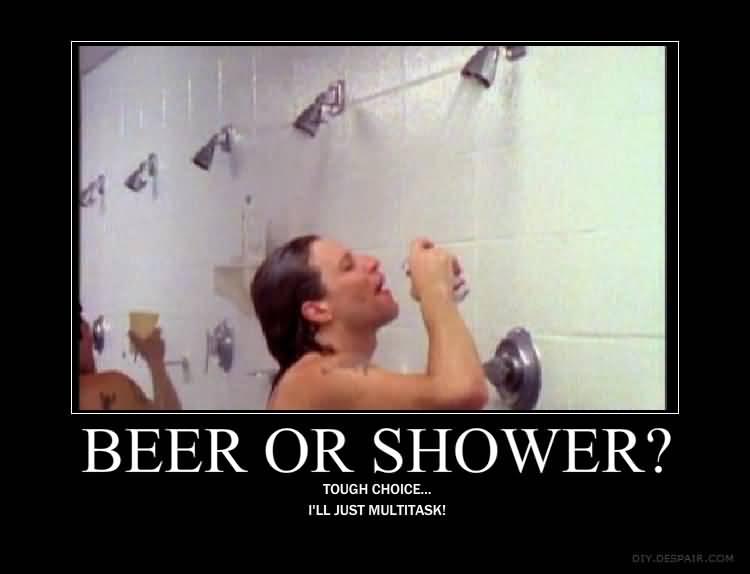Shower Beer Meme Funny Image Photo Joke 12