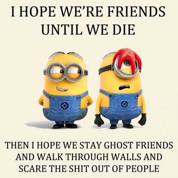 Very funny friend minion memes joke