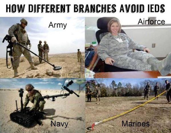 Very funny military branches meme photo