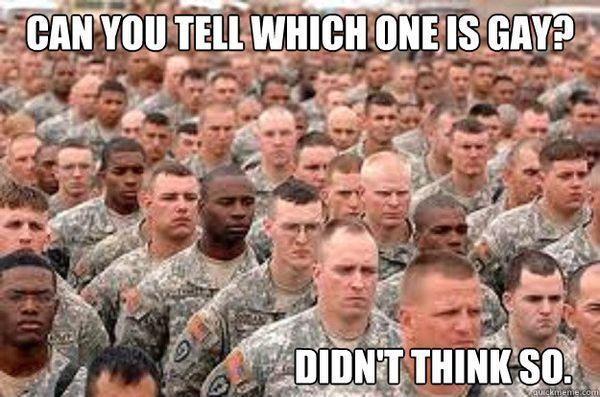Very gay army meme jokes