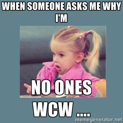 When Someone Asks Me Why I'm No Ones WCW...