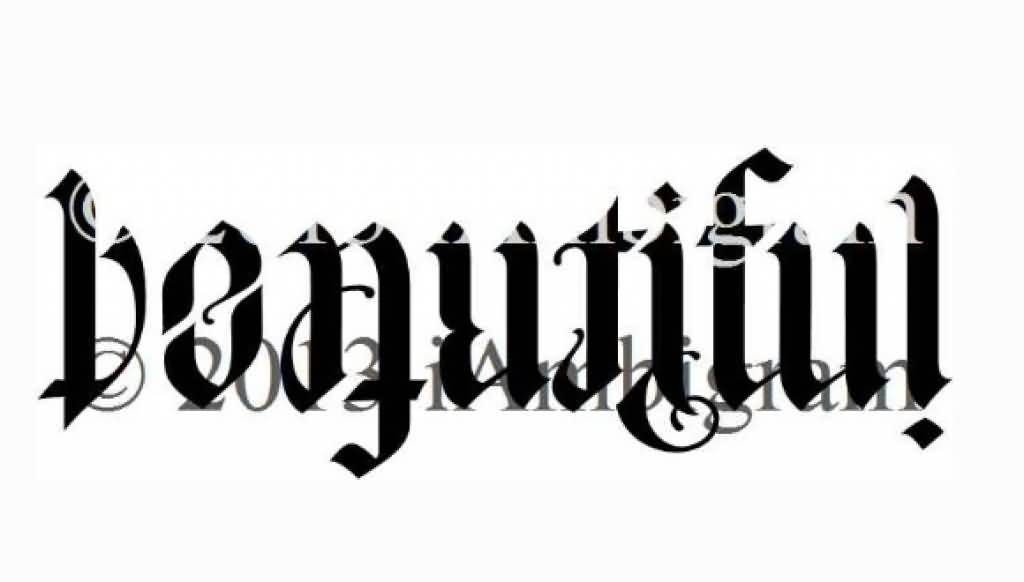 Ambigram Tattoo Design Picture 12