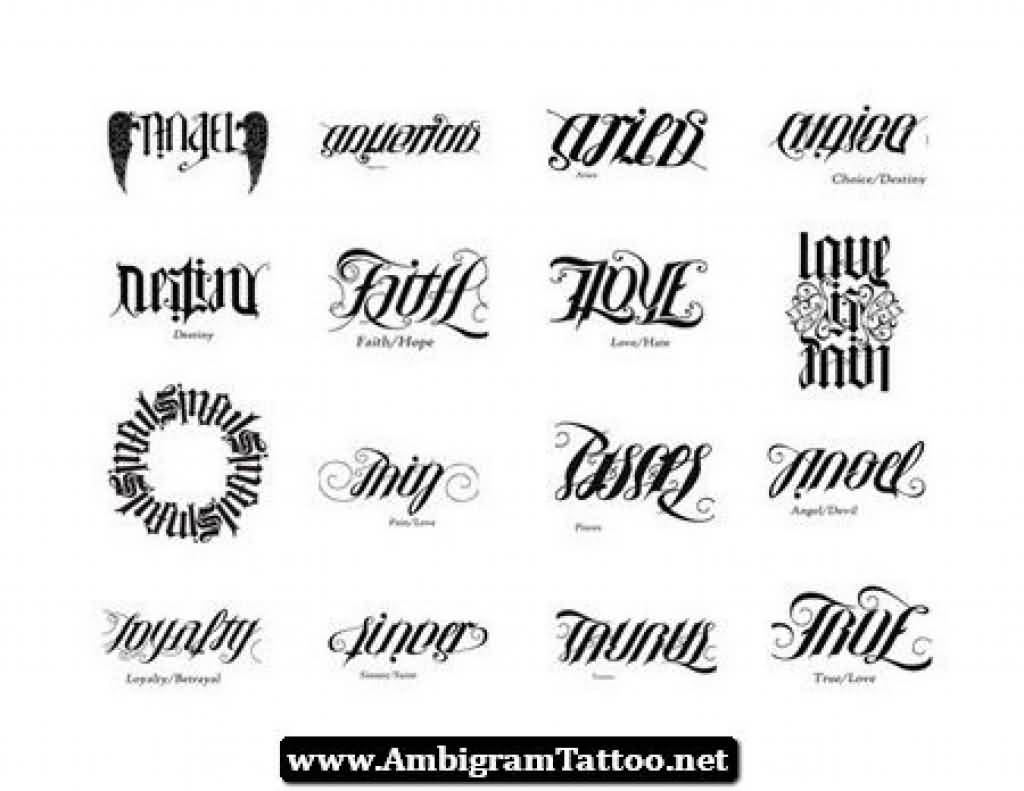 Ambigram Tattoo Design Picture 13
