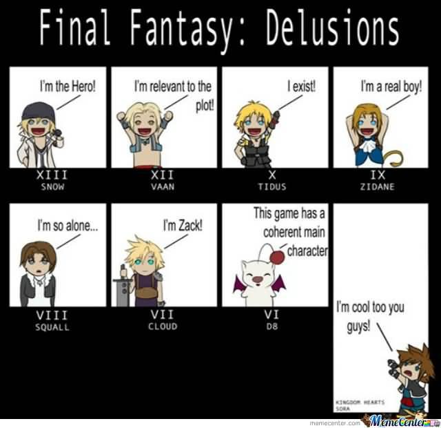 Final Fantasy Meme Image Joke 15