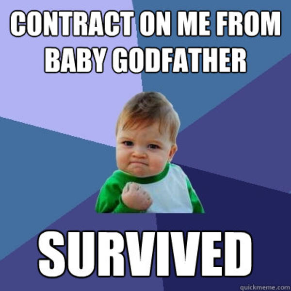 Godfather Baby Meme Funny Image Photo Joke 01