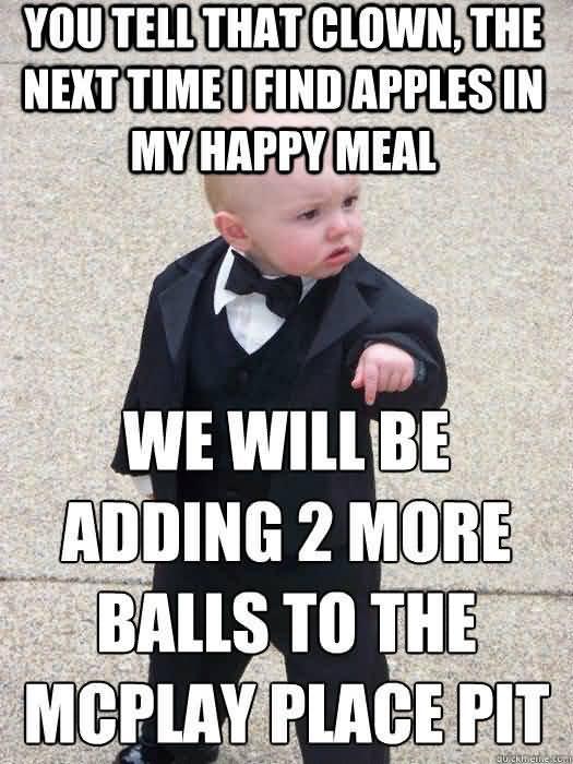 Godfather Baby Meme Funny Image Photo Joke 13