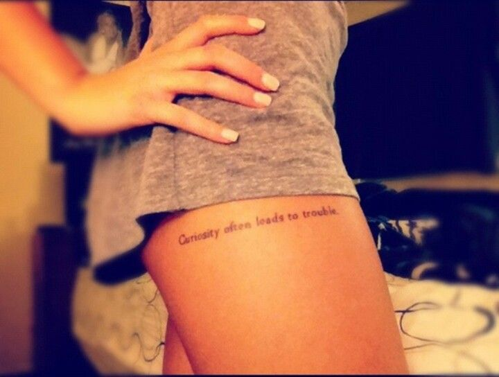 Quote Tattoos On Thigh Meme Image 03