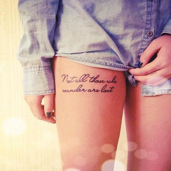 Quote Tattoos On Thigh Meme Image 20