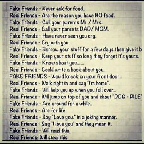 Quotes About True Friendship And Fake Friends 16