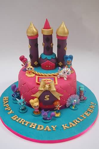 Shimmer and Shine Birthday Cake Image Photo Party 01