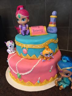 Shimmer and Shine Birthday Cake Image Photo Party 03