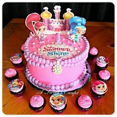 Shimmer and Shine Birthday Cake Image Photo Party 10